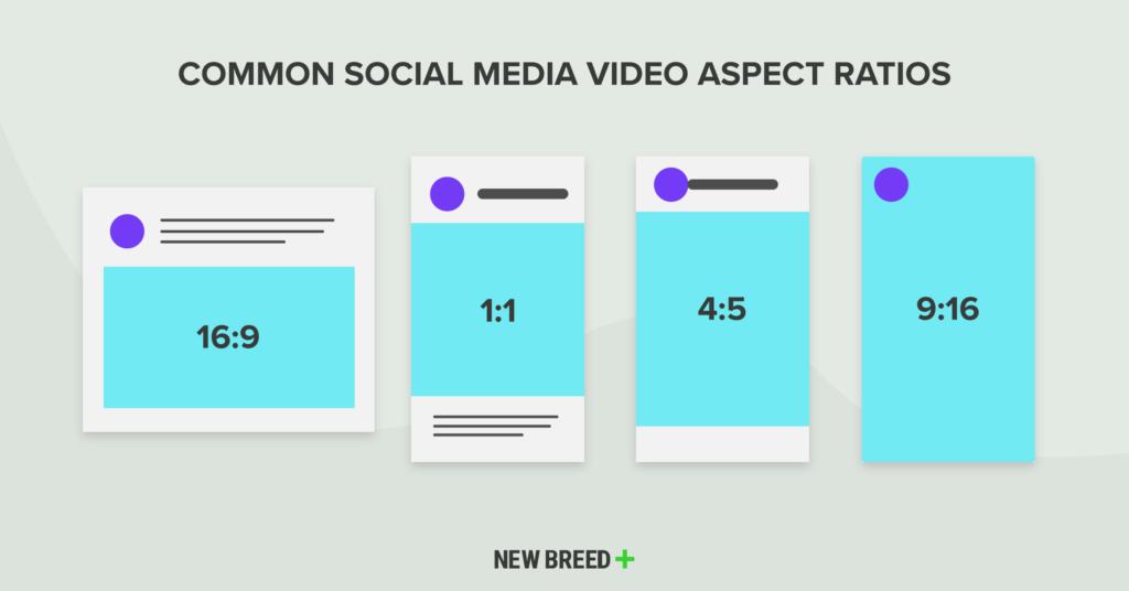 optimizing marketing videos common aspect ratios